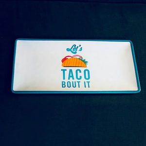 🌈3/$20 LETS TACO BOUT IT Platter + serving dishes